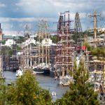 The Tall Ships fleet in Turku