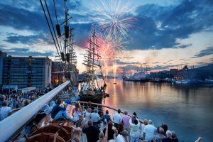 Fireworks at the Tall Ships Races 2014 in Bergen