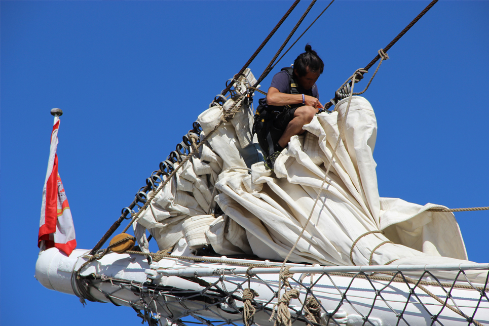 Fixing the sails