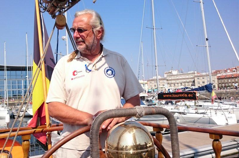 bea8e9937932e2 Liaison Officer in A Coruña enjoying the event. Captain Jan Vandenborne