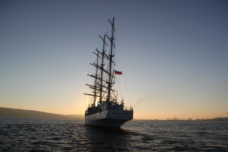 Mir into the Varna sunset
