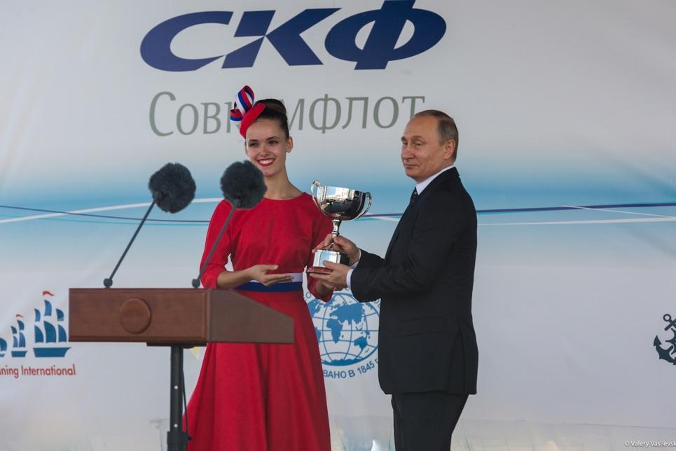 Vladimir Putin at the Prize Giving Ceremony