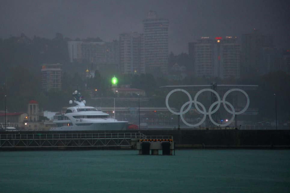 The Olympic Rings in Sochi