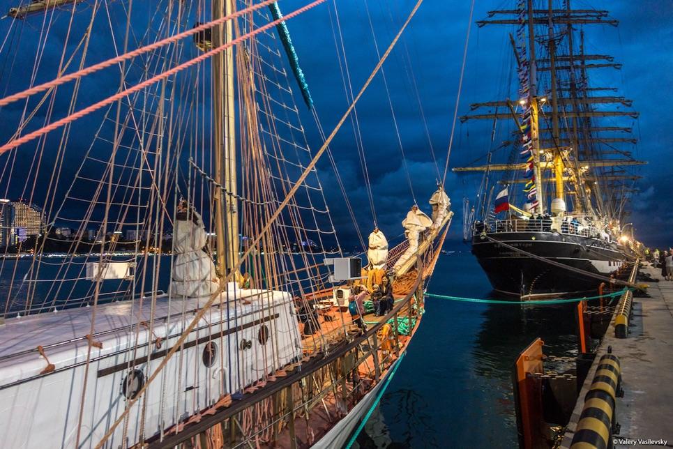 The fleet at night