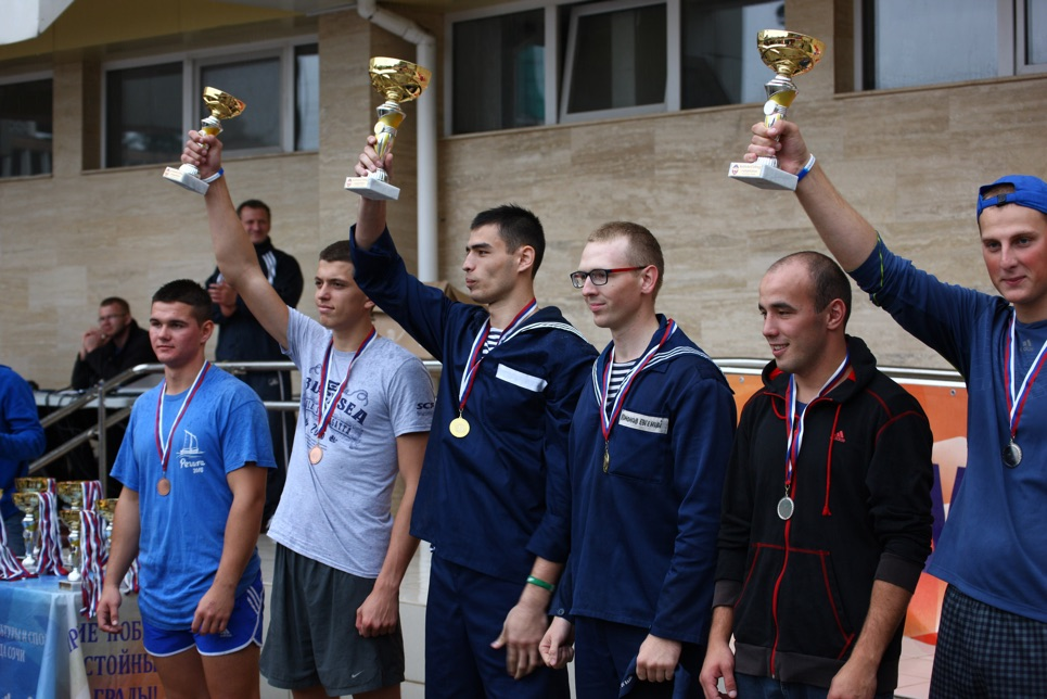 Winners of the inter-ship sports competitions