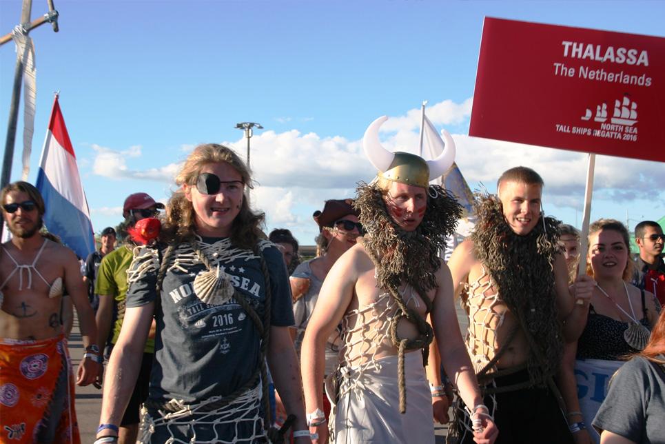 Thalassa in the Crew Parade