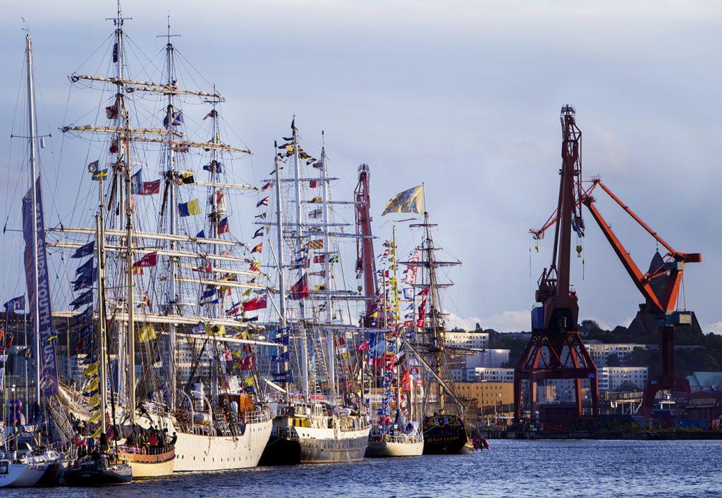 The fleet filling Frihamnen