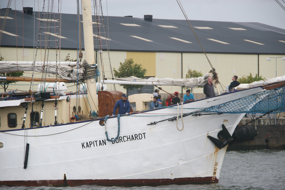 Crew members on board Kapitan Borchardt