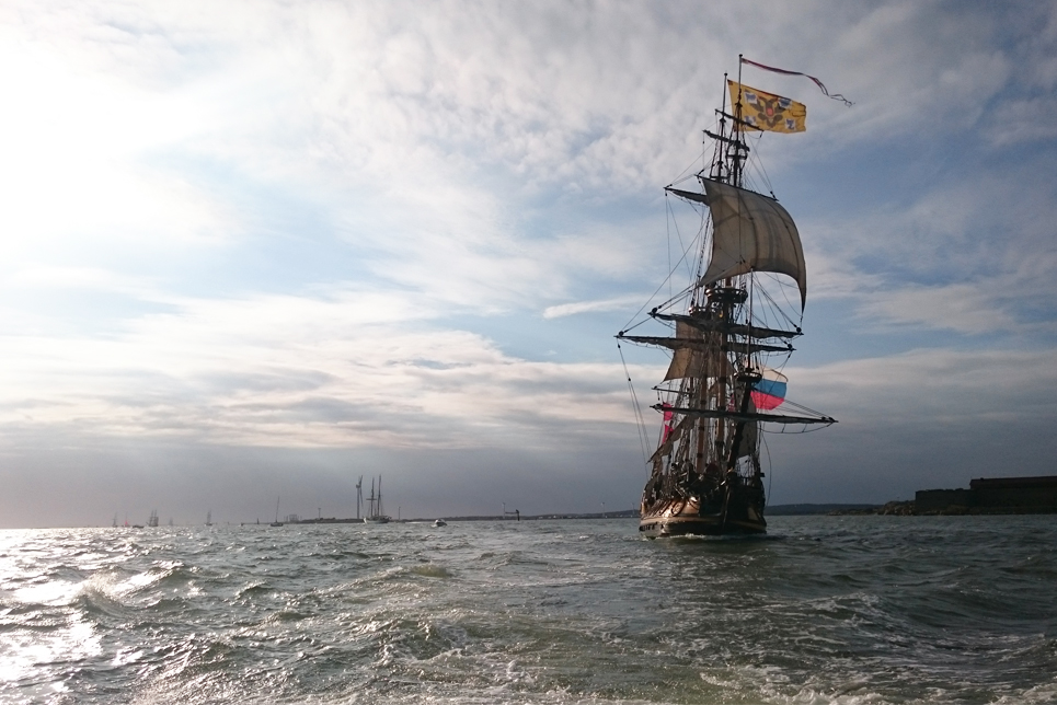 Shtandart in the Parade of Sail in Gothenburg