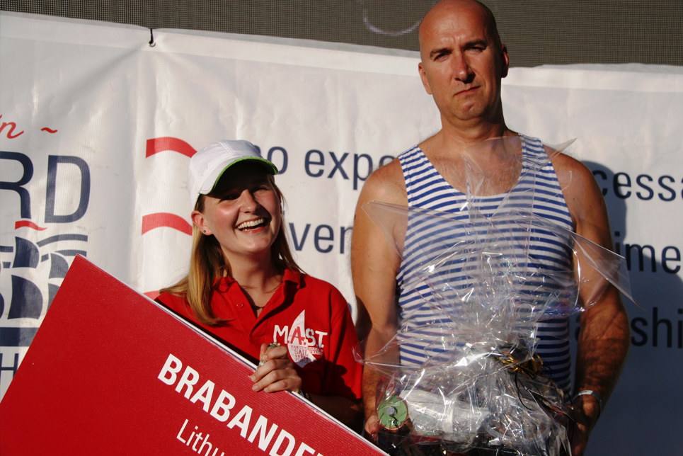 Brabander at the Prize Giving Ceremony
