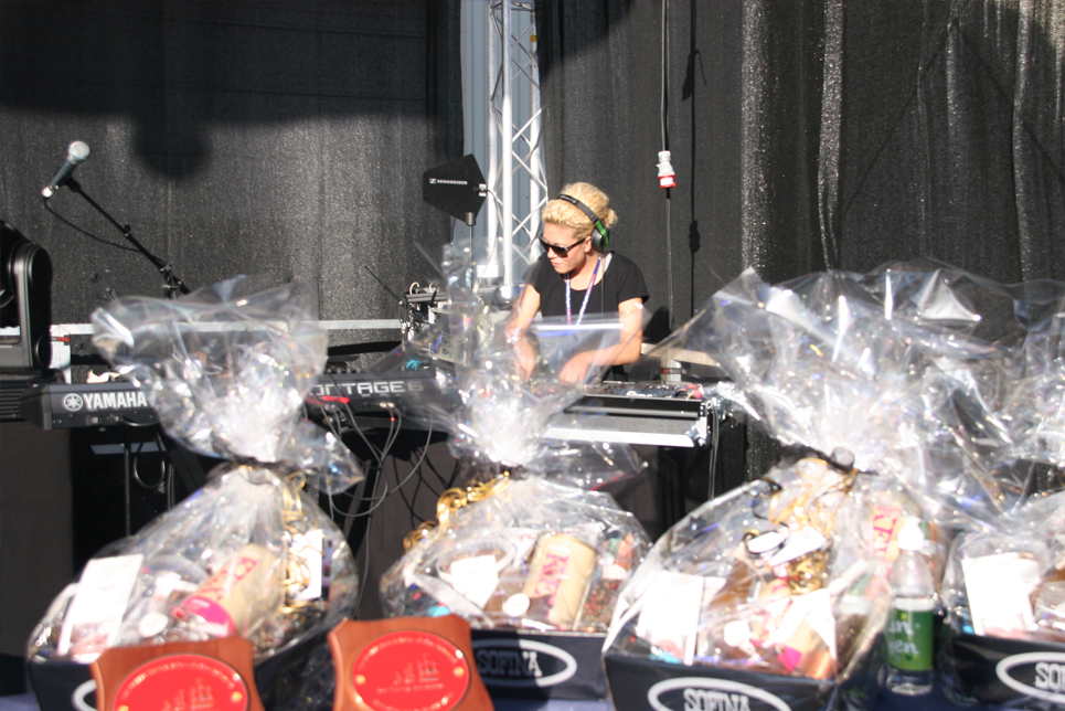 The DJ at the Prize Giving Ceremony
