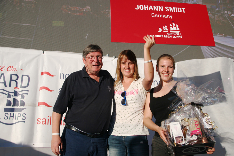 Johann Smidt at the Prize Giving Ceremony