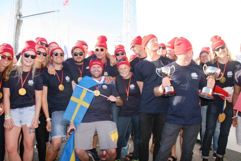 The crew of Vega Gamleby at the Prize Giving Ceremony