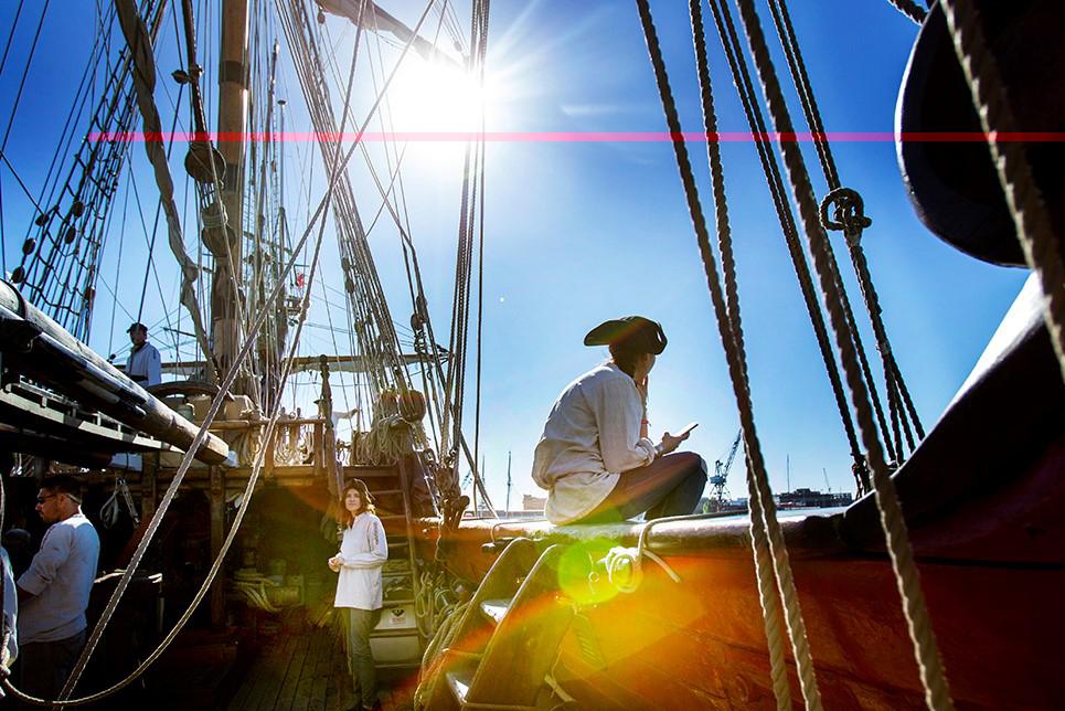 Sail Trainees Russian vessel Shtandart