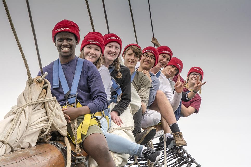 Trainees onboard Windeward Bound