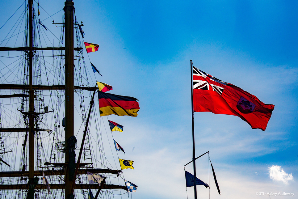 bermuda and german flags