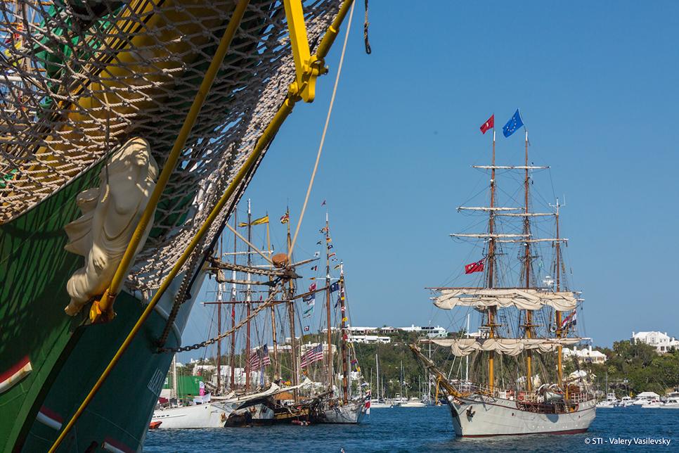 Tall ships in Hamilton, bermuda
