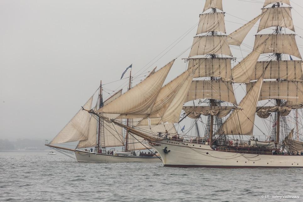 Europa Grand Parade of Sail in Boston.