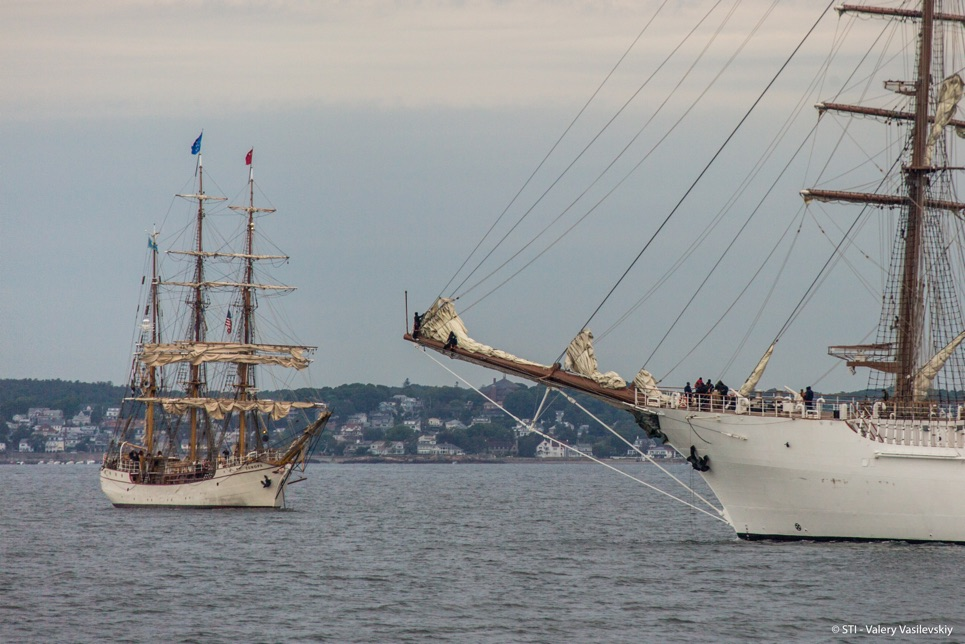 Tall Ships Grand Parade of Sail in Boston.