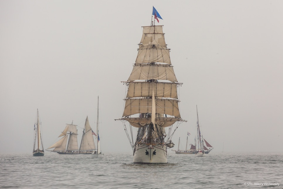 Europa in the Grand Parade of Sail in Boston.