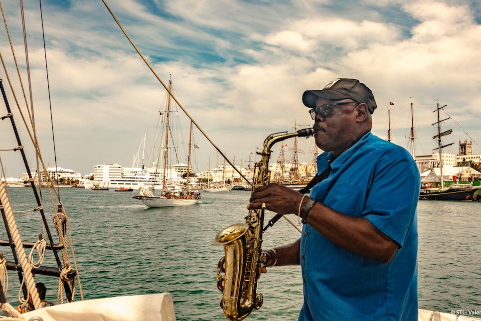 man playing saxophone in bermuda