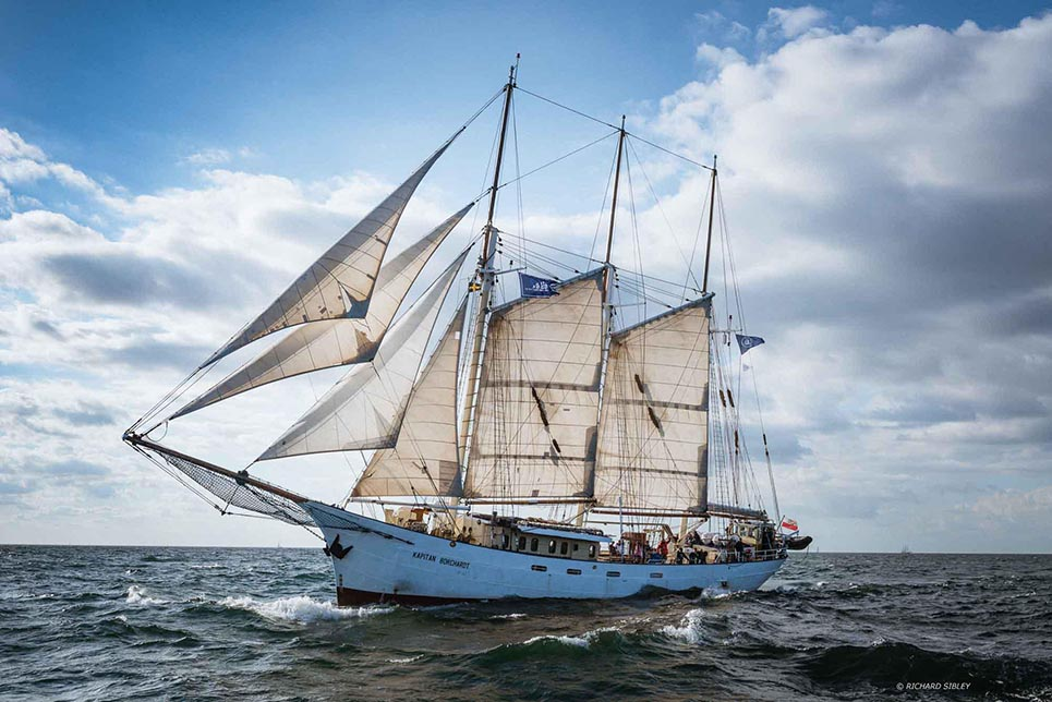 Tall Ship Kapitan Borchardt (Poland). Courtesy of Richard Sibley.