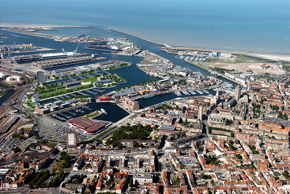 Aerial view of the Port of Dunkirk.
