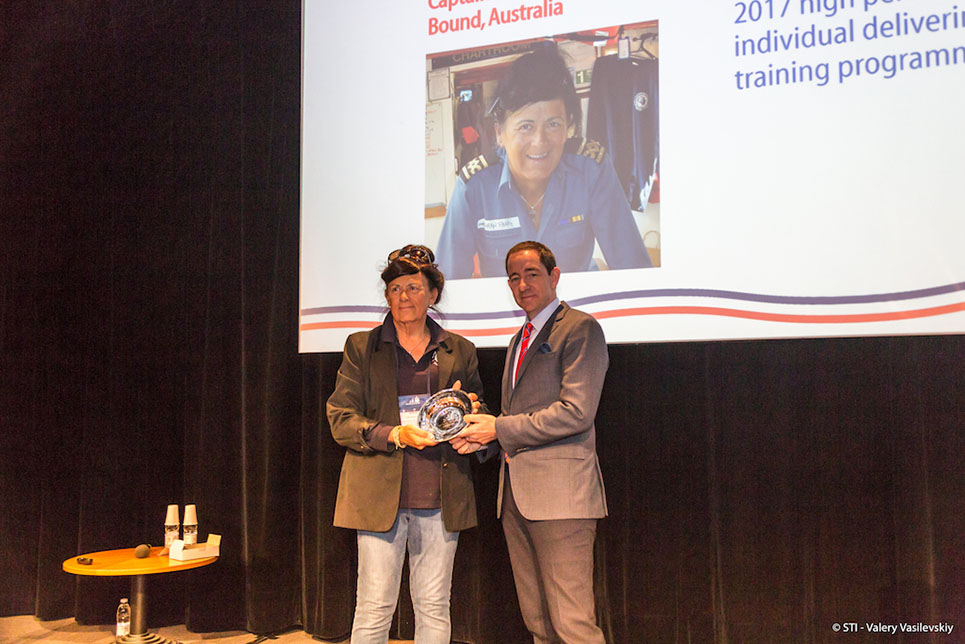 2017 Sail Trainer of the Year (professional, over 25) - Captain Sarah Parry (Australia).