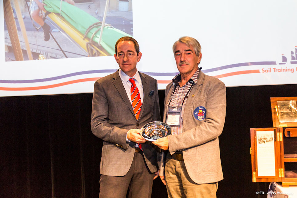 2017 Young Sail Trainer of the Year (volunteer, under 25) - Lennart Koch (22) (Germany) collected by Joerg Schinzer.