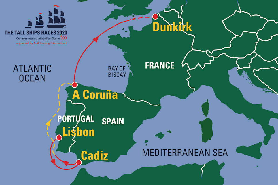 the tall ships races 2020 route map