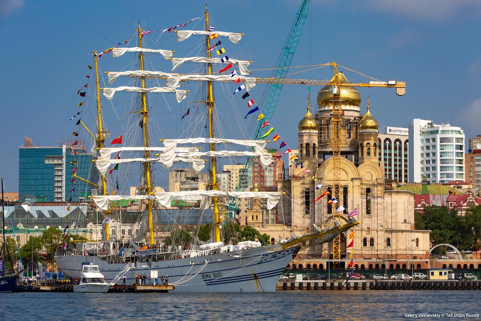 bima suci during scf far east tall ship regatta 2018