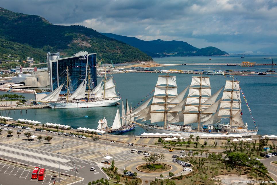 tall ships docked during scf far east tall ship regatta 2018