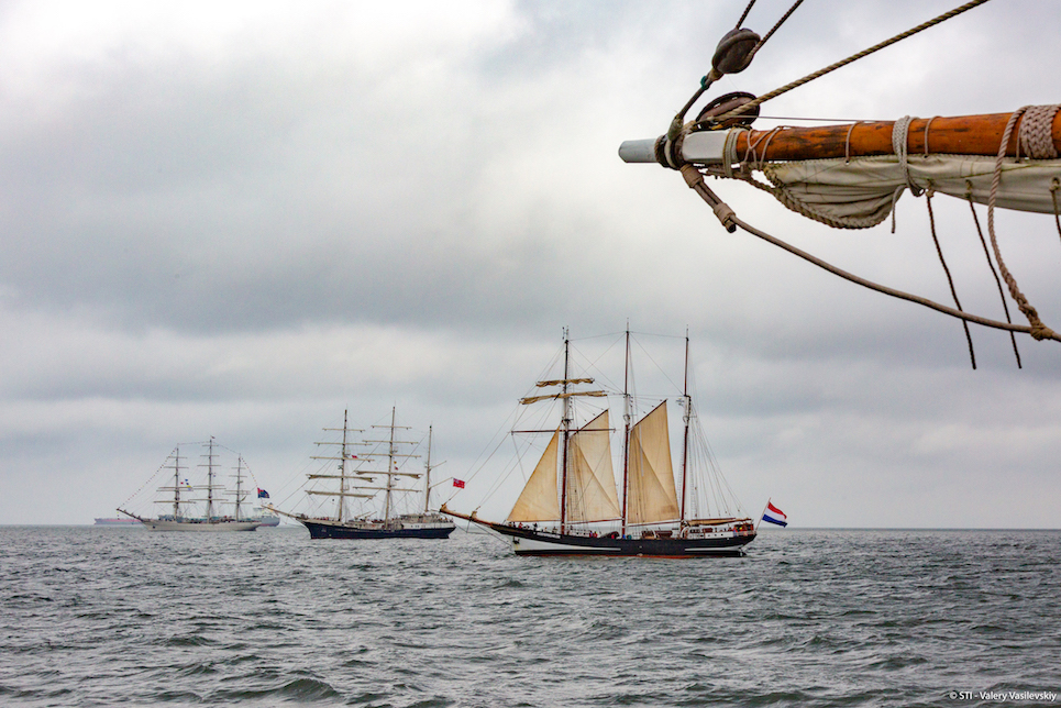 tall ships sailing into the hague for the liberty tall ships regatta 2019