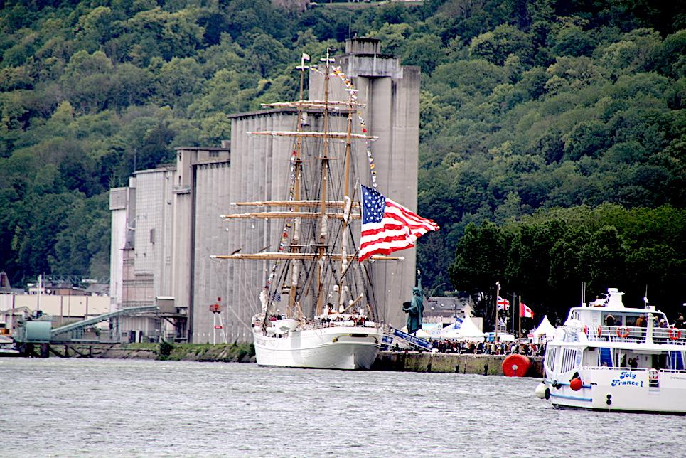 uscg eagle docked at the liberty tall ships regatta 2019 rouen