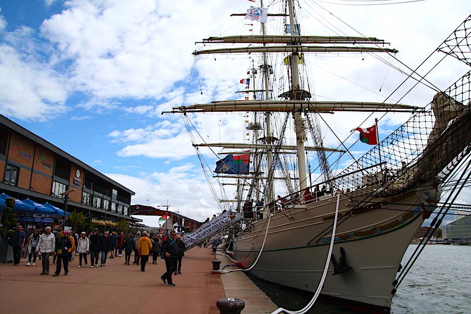 tshabab oman ii docked at the liberty tall ships regatta 2019 rouen
