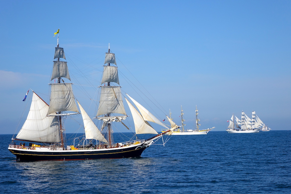morgenster at the start of the liberty tall ships regatta 2019