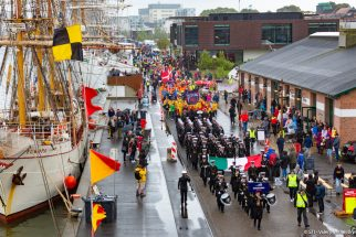Aalborg Crew Parade Tall Ships Races 2019.