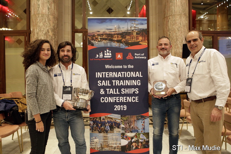 international sail training and tall ships conference 2019 annual awards greatest loyalty award winners juan de langara