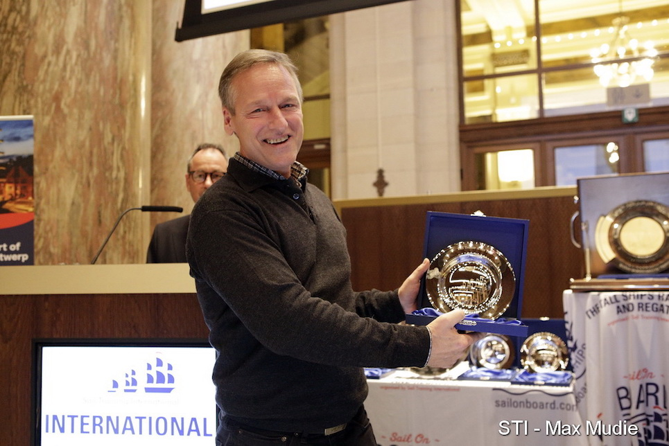 international sail training and tall ships conference 2019 annual awards sail trainer of the year winner captain marcus seidl
