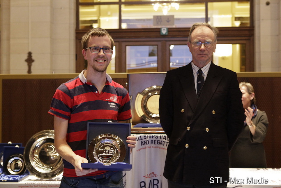 international sail training and tall ships conference 2019 annual awards young sail trainer professional winner mads kamstrup