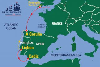 The Tall Ships Races Magellan-Elcano 500 Series 2021 route map